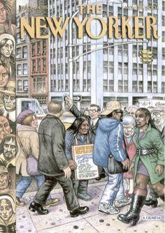 The New Yorker cover art by Robert Crumb The New Yorker, New Yorker Covers, Robert Crumb, Underground Comics, Fritz The Cat, Alternative Comics, Alternative Art, Linear Art, Bd Comics