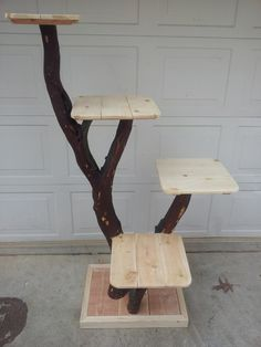 cat tree ideas ( would also be an awesome cake stand or cupcake display)