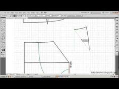 model uygulamalı etek 4 / The model applied skirt pattern 4