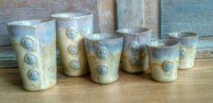 """Nieuw werk. """"Buttons"""" Bekers in 3 maten. New work. #ceramics #mugs"""