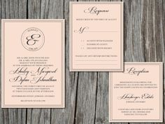 DIY printable formal vintage wedding by sweetlittlesentiment, $25.00