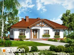 Dom w miłkach Home Fashion, My Dream Home, Gazebo, House Plans, Sweet Home, Outdoor Structures, House Design, Mansions, House Styles