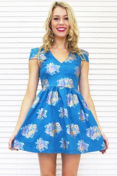 Oriental Floral Skater Dress