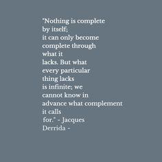 Good old Derrida:)