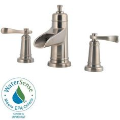 Pfister Ashfield Waterfall 8 in. Widespread 2-Handle Bathroom Faucet in Brushed Nickel-F-049-YW2K - The Home Depot