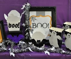 Decor and ideas for a Halloween party.