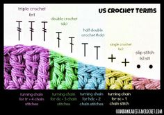 Crochet Stitches needed for turning Chains  ❥ 4U // hf