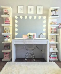 dream rooms for girls teenagers ~ dream rooms . dream rooms for adults . dream rooms for women . dream rooms for couples . dream rooms for girls teenagers . dream rooms for adults bedrooms Cute Room Decor, Teen Room Decor, Room Ideas Bedroom, Bedroom Desk, Room Decor Teenage Girl, Diy Home Decor Bedroom Girl, Diy Room Decor Tumblr, Teen Bedroom Furniture, Kid Decor