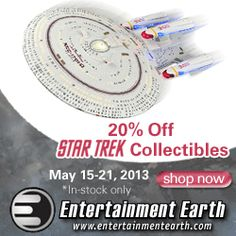 #Comic-con Comic Collectables Animes, batman #StarWars,Marvel Comics,Star Trek  http://www.planetgoldilocks.com/comics_collectables.htm  In celebration of the new #StarTrek Into Darkness movie, all in-stock Star Trek collectibles are 20% Off. Products include action figures,statues, prop replicas, model kits, kitchenware, artwork. and much more!