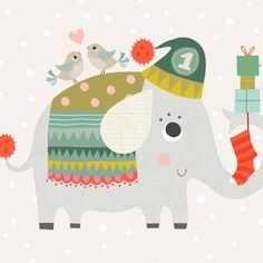... Nelly the Ellie getting ready for Christmas... early! @beebrownhive #illustration #illustrators #fun #kids #drawing #design #christmas #elephant #lovely #cute