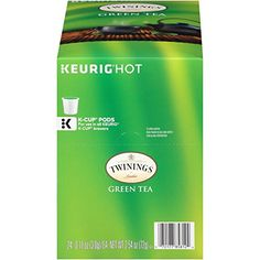 Twinings of London Green Tea K-Cups for Keurig 24 Count (Pack of Pure Green Tea, Best Green Tea, Best Coffee Maker, Espresso Coffee Machine, Best Mixed Drinks, English Breakfast Tea, Fall Drinks, Earl Grey Tea, Oolong Tea