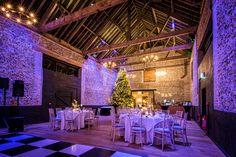 The Granary Barn dressed for Christmas #24ftchristmastree #winterwonderland #woodland #winterwedding #petedennesphotographer