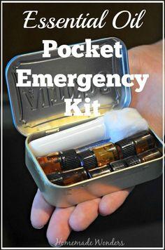 Essential Oil Pocket Emergency Kit - Homemade Wonders