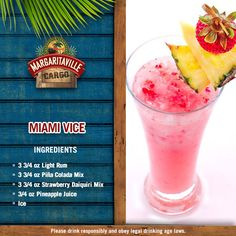 The weather outside may be frightful. but enjoying a Miami Vice frozen concotion is sooo delightful! Margaritaville Machine Recipes, Margaritaville Frozen Concoction Maker, Margaritaville Mixer, Liquor Drinks, Cocktail Drinks, Cocktail Recipes, Beverages, Alcoholic Cocktails, Bourbon Cocktails
