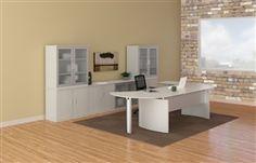 Mayline Medina Textured Sea Salt Office Furniture Set