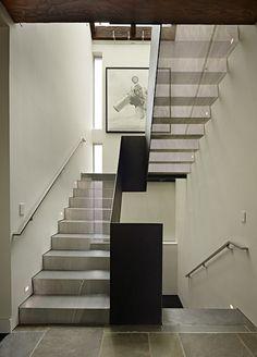 see-through aluminum mesh staircase
