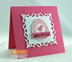 Create With Me: Waltzingmouse Love the simplicity of this sweet card - Easter or New Baby!  So simple and beautiful!
