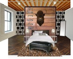 """""""Austin Loft - Bedroom R"""" by bshdesigns ❤ liked on Polyvore"""