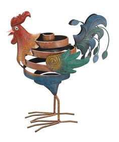 Another great find on #zulily! Jiggly Rooster Garden Statue #zulilyfinds