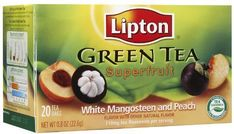 Lipton Green Tea Bags Superfruit White Mangosteen  Peach 20 ct by Unilever Foods *** You can find more details by visiting the image link. (This is an affiliate link and I receive a commission for the sales)