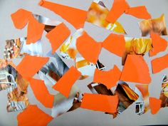 """Dropping torn papers--the """"Happy Accident"""" collage"""