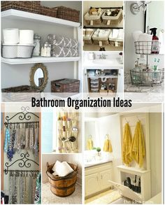 bathroom organization ideas | theidearoom.net