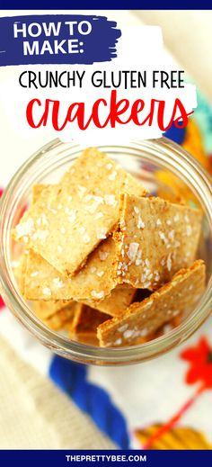 These gluten free crackers are so easy to make, and so tasty! Avoid the expense of store bought crackers and enjoy this homemade version instead. #recipe #homemade #vegan #easy