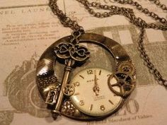 """Steampunk necklace"" is what some hipster loser wrote...I'd say ""gorgeous antique style""!"