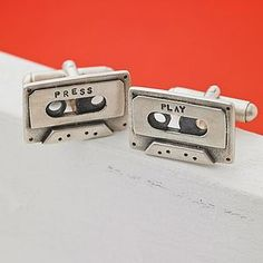 Personalised Silver Cassette Tape Cufflinks - shop by personality