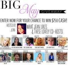 $750 #Cash #Giveaway!