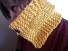 Yellow Cowl scarf  neck warmer hand by BlackRavenCreations on Etsy, $17.00