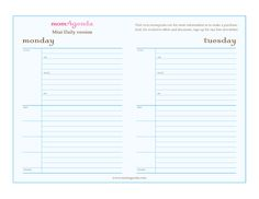 Day Planners Printable | Blank Calendar Day Planners 24 Hour Day ...