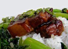 Red-braised pork belly, China.