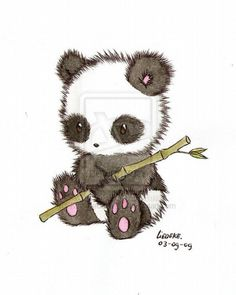 cute panda drawing - Google Search