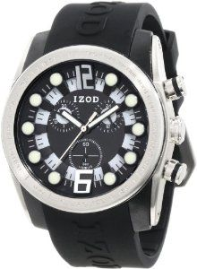 IZOD Men's IZS2/1 BLK Sport Quartz Chronograph Watch IZOD. $35.64. Bold polycarbonate and stainlesss steel case. Quartz movement. Durable mineral crystal protects watch from scratches,. Bold color dial and case. Water resistant