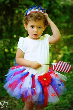 "Fourth of July ""America"" Tutu"