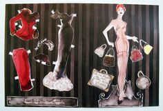 diane the paper doll front and back by Bridget Davies