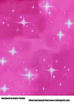 Pink Bling Stars Backing Paper | Craftsuprint