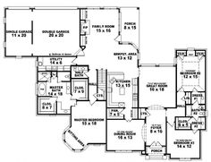 #653918 - Two story 5 bedroom, 3.5 bath french traditional style house plan : House Plans, Floor Plans, Home Plans, Plan It at HousePlanIt.com