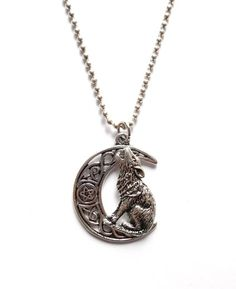 Lady of the Lake - Halsband med varg Pendants, Necklaces, Pendant Necklace, Metal, Jewelry, Jewellery Making, Jewels, Chain, Jewlery