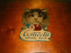 Vintage 1920s Corticelli Spool Silk Sewing Lap by funoldstuff