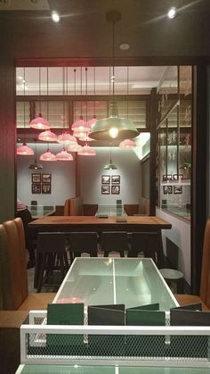 Interior of Hay! Hk Restaurant, Ping Pong Table, Shanghai, Restaurants, Interior, Home Decor, Decoration Home, Indoor, Room Decor