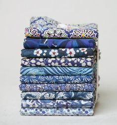 Tangled up in blue #fabric #stack