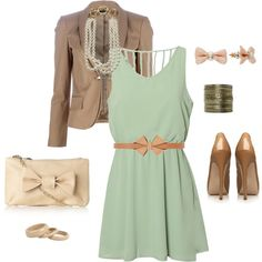 Very classy yet sweet- love the minty dress.