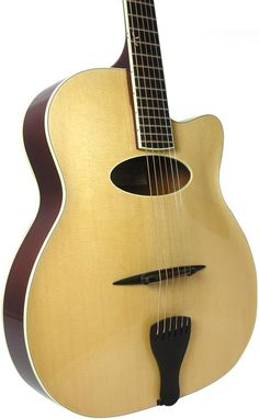 Benedetto Gypsy acoustic Jazz guitar with oval soundhole.