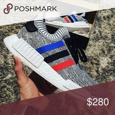 Adidas NMD Primeknit Limited release 100% Authentic Adidas NMD_R1 PK Tricolor . Sold out every where . Size/Men-8/Women-9 Super comfy ! Adidas Shoes Sneakers
