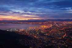 Wonderful evening shot looking towards the harbour in Cape Town. Cape Town Accommodation, Western Cape | capetownstays.com Cape Town Accommodation, Grand Canyon, Westerns, Landscapes, Shots, Mountains, Nature, Travel, Paisajes