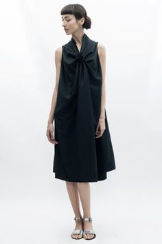 Bianca Popp Rosebud Dress in Black Cotton