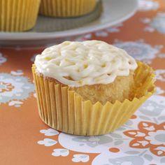 Golden Orange Cupcakes Recipe from Taste of Home -- shared by Helen Hassler of Denver, Pennsylvania