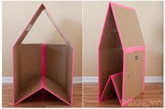 Een kartonnen huisje maken voor de kids